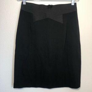 ELIETAHARI Nordstrom black pencil skirt women's 10